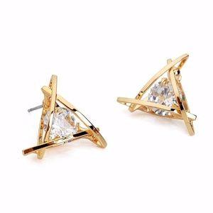 Gold/Sliver CZ Earrings