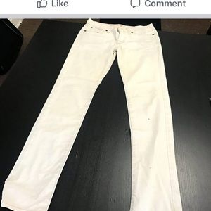 Off white boot cut jeans