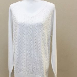 Van Heusen White Knit Sweater