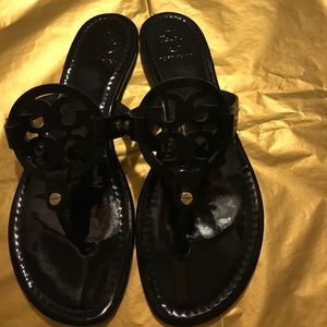 Black Patent leather Miller sandals Tory Burch