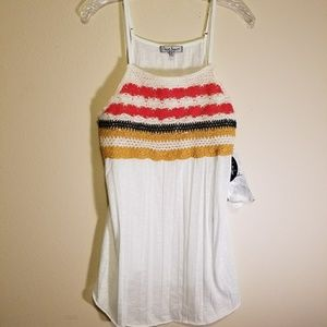 NWT Almost Famous crochet tank top