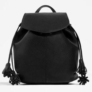 leather ZARA backpack