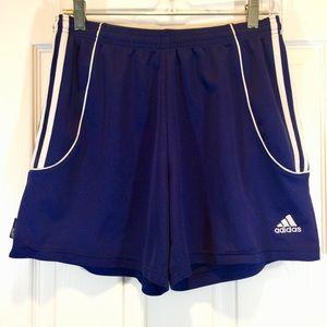 Adidas Climalite Drawstring Blue Shorts M