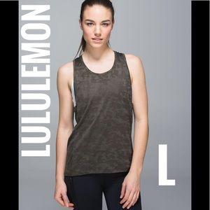 Lululemon Run for Days Tank - Deep Camo