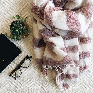 Rag & Bone striped linen scarf