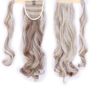 Pony Tail Wrap Around 1 Piece extension curly Hair