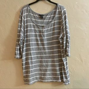 Size 3 Torrid Gray Striped Top