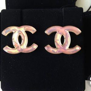 Chanel Iridescent Iconic CC Earrings