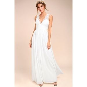 White Maxi Dress From Lulus
