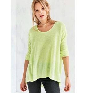 Lightweight Sweater Knit High Low Tunic XS