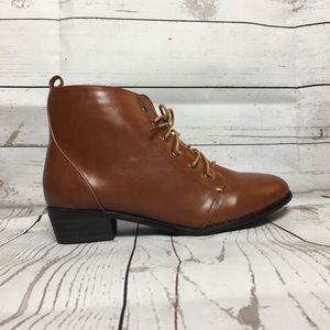 Casual Laced Up Ankle Bootie