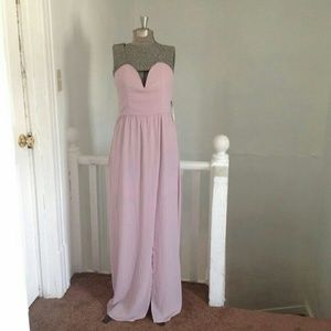 TOBI Long Sweetheart Dress