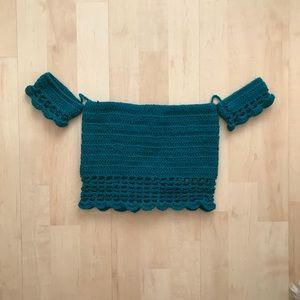 Crochet peasant top