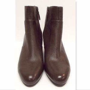 New COLE HAAN 9.5 Brown Leather Wedge Ankle Boots