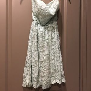 Mint Sweetheart Floral Lace Dress