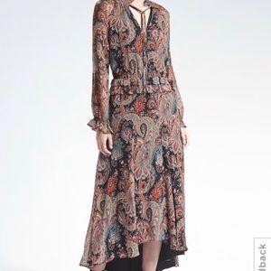 Banana Republic x Olivia Palermo Tie-Neck Dress