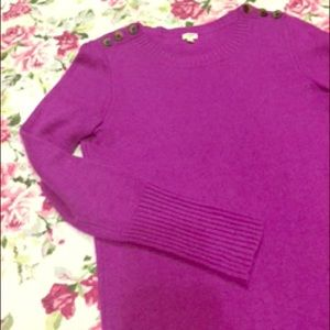 J. Crew wool blend sweater XS bright purple