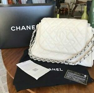 Chanel Quilted Leather Accordion Flap Bag