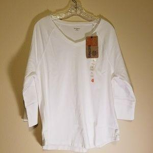 NWT Ruff Hewn white top