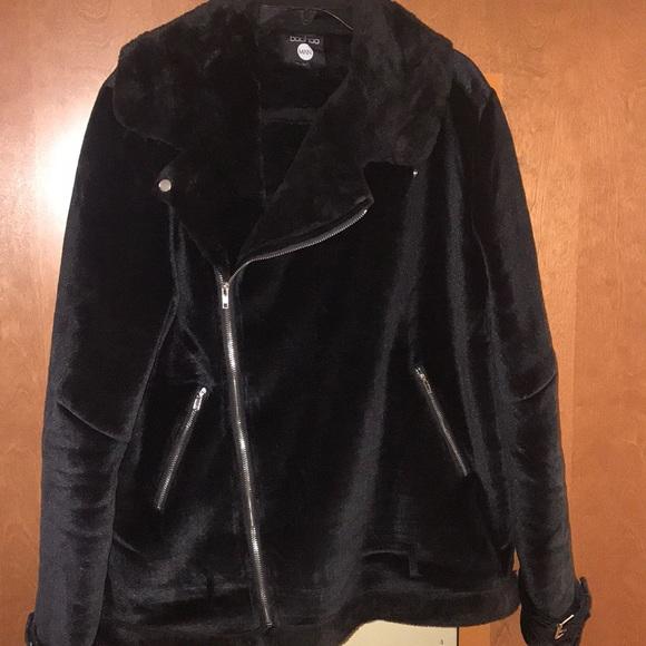 fc4b9d4d Boohoo Jackets & Coats | Mens Large Velvet Faux Fur Biker Jacket ...