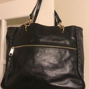 Badgley Mischka black leather Tote