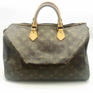 Louis Vuitton speedy 35 monogram satchel