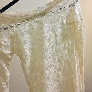 Off-white Lace top