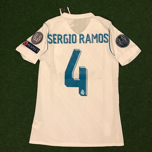 2017 18 Real Madrid Soccer Jersey SERGIO RAMOS  4 f00d4005a