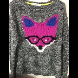 Super soft Fox sweater by Rewind size Medium EUC