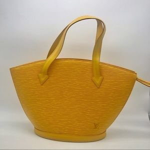 Louis Vuitton saint jacques yellow epi leather bag