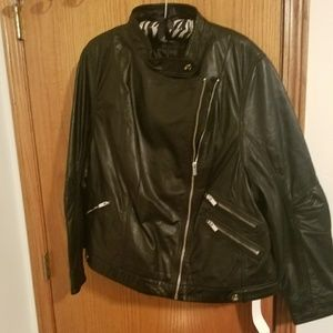NWT Genuine leather biker jacket