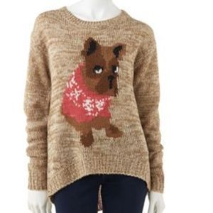 French Bulldog Intarsia Sweater Kohls