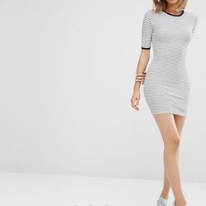 Daisy Street Striped Bodycon Dress