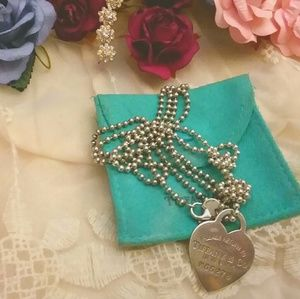 tiffany & co. chain and tag
