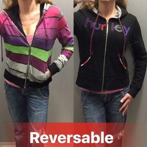 Reversible Hurley hooded sweatshirt