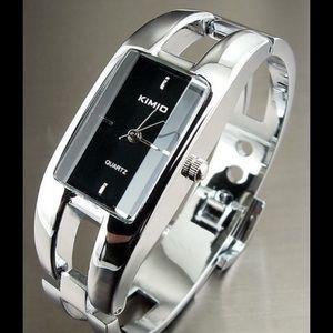 Kimio Rectangle Ladies Silver Watch