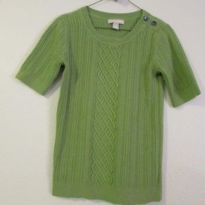 Banana Republic short sleeve cable sweater - S