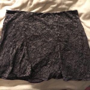 Lace flower print skirt