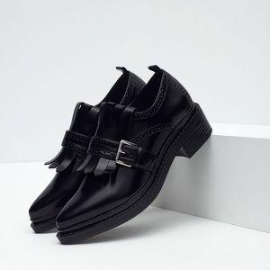 Zara Fringe Penny Loafers