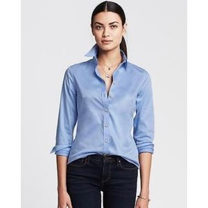 BANANA REPUBLIC NON IRON SATEEN FITTED BLOUSE