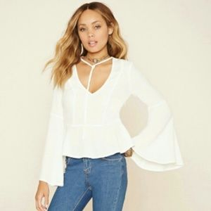 F21 Bell Sleeve blouse (M/L)