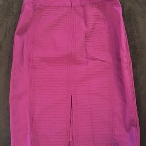 White House Black Market pink pencil skirt size 00