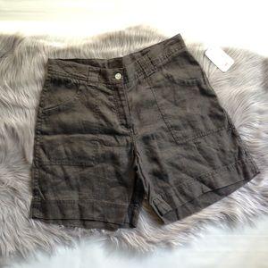 H&M L.O.G.G dark gray linen cargo shorts NWT 8