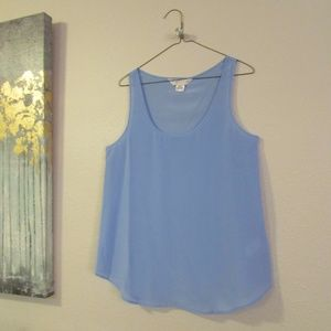 French Connection silk tank - periwinkle blue -6
