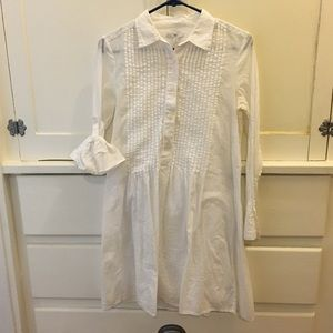 Gap Tuxedo Shirt Mini Dress with Slip XS