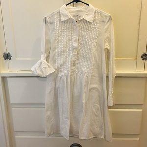 Gap Tuxedo Shirt Mini Dress with Slip XS
