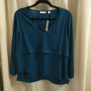 New York & Company teal blouse
