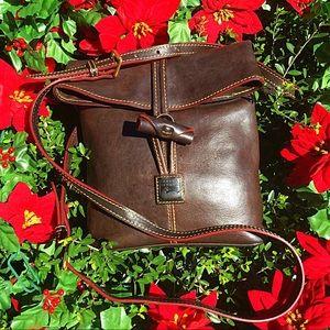 DOONEY & BOURKE VINTAGE BROWN BOHO LEATHER BAG