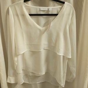 Gorgeous New York & Company white blouse