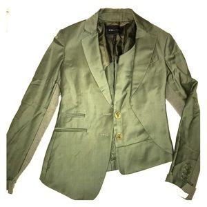 BCBG olive green asymmetric blazer. XXS